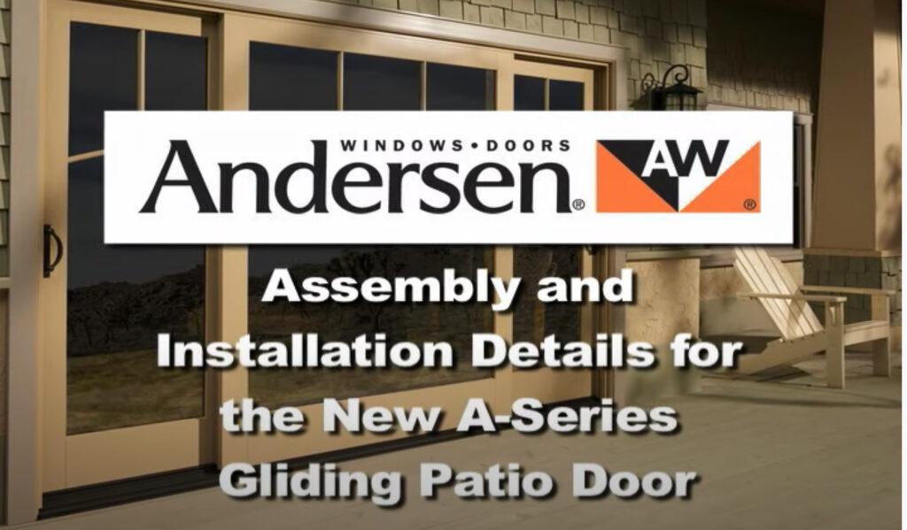 A series Andersen Patio door install
