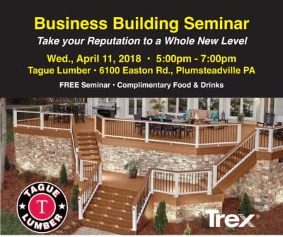 Business Building Seminar for Decking Professionals