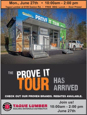 "AdvanTech ""Prove it"" Tour at Tague Lumber Doylestown"