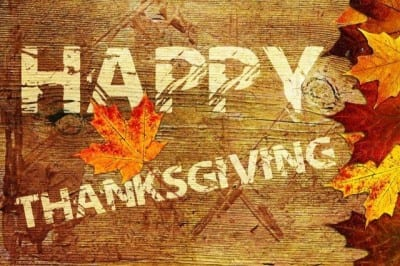 Happy Thanksgiving!  Tague Lumber closed for the holiday.