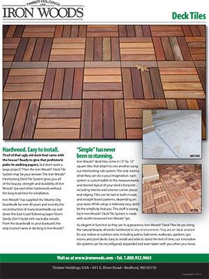 Iron Woods 12x12 Deck Tiles