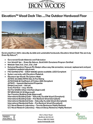 Iron Woods Elevations WOod Deck Tiles