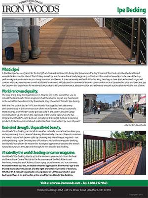 Iron Woods Ipe Brochure