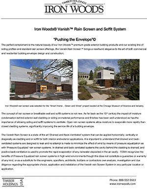 Iron Woods Vanish Rainscreen System