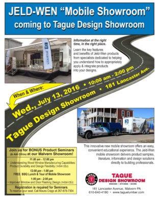 2 Free AIA seminars & BONUS tour of Jeld-Wen Mobile Showroom at Tague Design Showroom