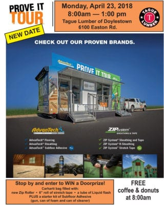 Huber Prove-it Van in Doylestown