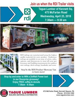 RDI Product Showcase Van in Kennett Sq.