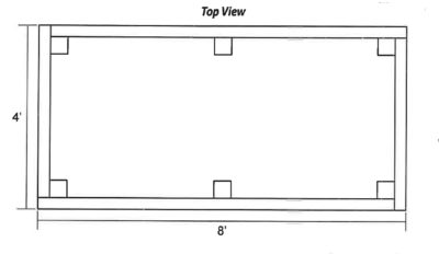 Top view of Raised bed