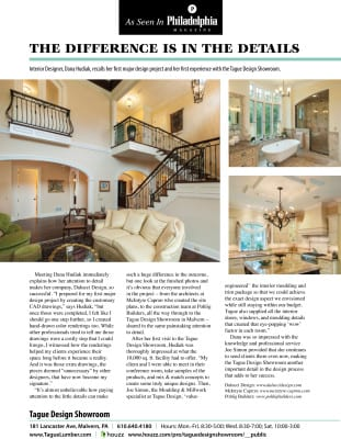 As seen in Philadelphia Magazine — The Difference is in the Details