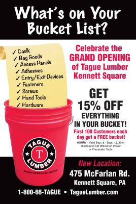 "Grand Opening ""Bucket List"" 15% off SALE!"