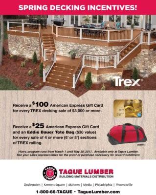 TREX Decking Promotion — Tague Lumber EXCLUSIVE