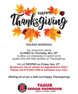 Thanksgiving — Holiday Schedule
