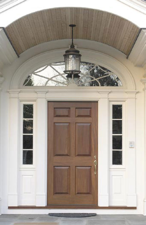 Colonial Entry Doors With Sidelights Portico Designs For Front Door Faun Design Pella Entry