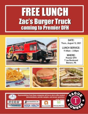 FREE Lunch from Zac's Burger Truck at Premier DFH in Malvern