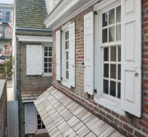 Betsy Ross House - Cedar Shingle Roofing & new entry doors