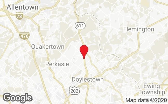 map of Doylestown Design Showroom